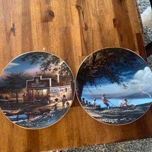 Terry Redlin decorative plates